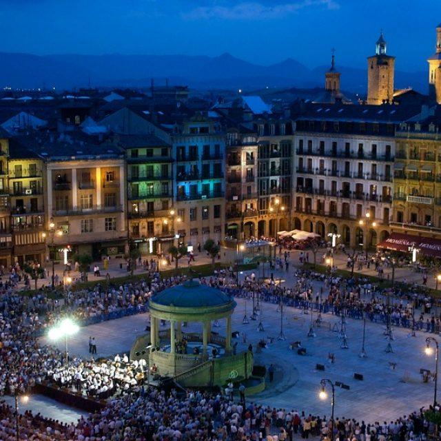 La Plaza del Castillo de Pamplona